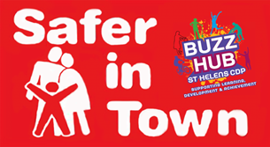 Safer In Town Logo Cdp